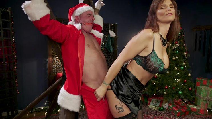 Santa Gets Got: MILF Syren de Mer Catches Dale Savage in Her Dungeon
