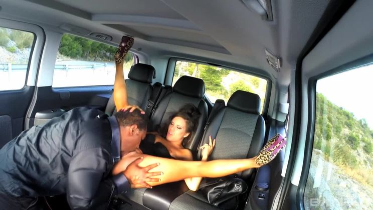 Gala Brown Gets Fucked in the Black Taxi