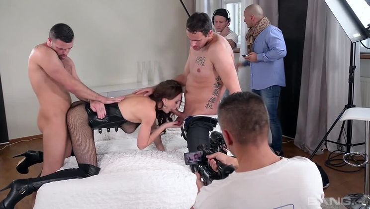 Tina Kay gets double penetrated and double stuffed in this XXX fuck show