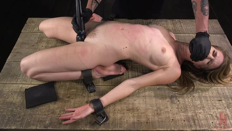Ashley Lane: Pain Slut Brutally Tormented in Device Bondage