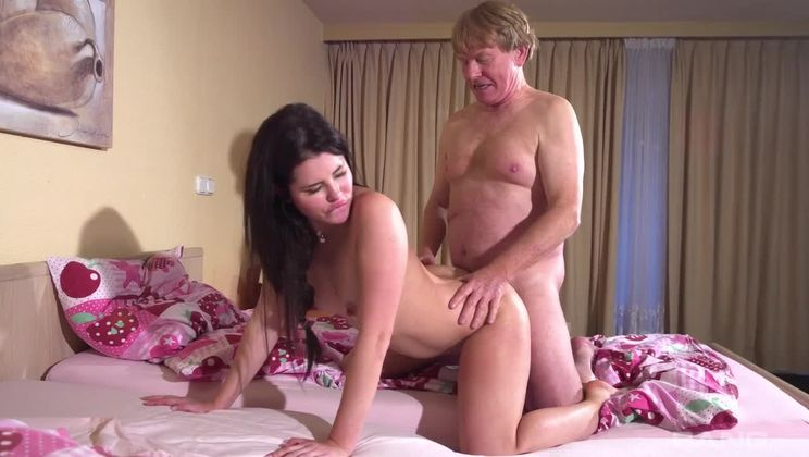 Cassie Fire is kinky and likes to fuck guys twice her age
