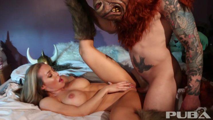 Hunter Nicole Aniston captures a Minotaur and Milks his balls dr