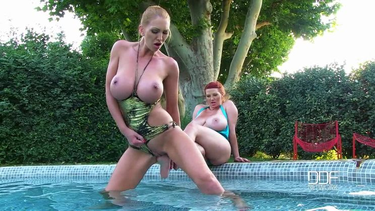 Soaked - Wet and Wild Lesbian Foot Worship Pool Party!
