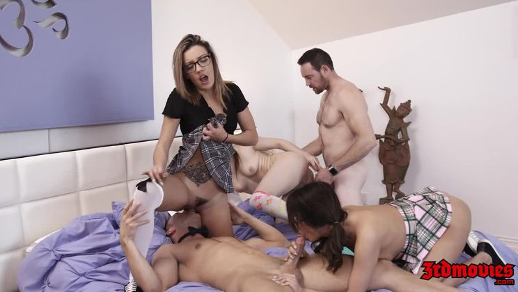 Naughty Nerdy Girls Getting Their Pussy Drilled Deep